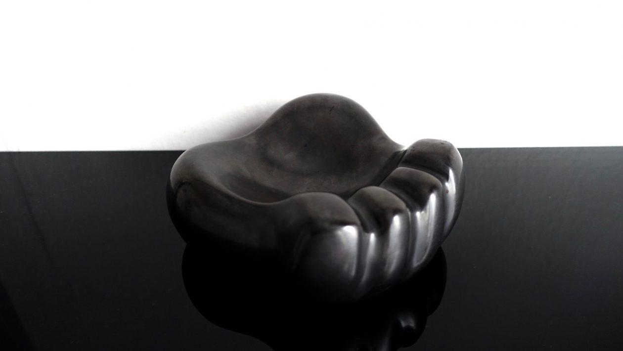 Georges Jouve patte d'ours noire, céramique 1950